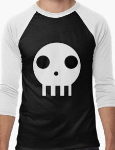 Skull Design Men's Baseball ¾ T-Shirt