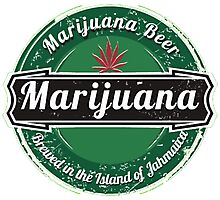 Marijuana Beer Photographic Print