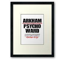 Arkham Psycho Ward - White Framed Print