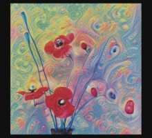 #Deepdreamed Poppies Kids Tee
