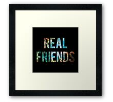 Real Friends Space Framed Print