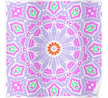 Seamless pattern east ornament with colorful details print, elegant with oriental ornaments Poster