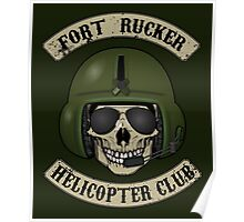 Fort Rucker Helicopter Club Poster