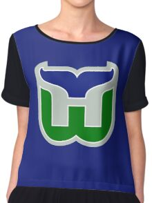 HARTFORD WHALERS HOCKEY RETRO Chiffon Top