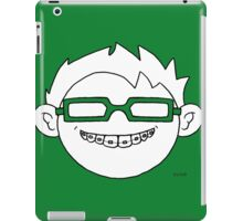 Superhero and nerd with braces and customizable glasses iPad Case/Skin