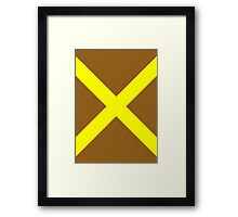 Yellow Cross Framed Print