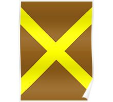 Yellow Cross Poster
