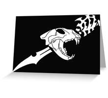 Black Flag Lion Skull Greeting Card