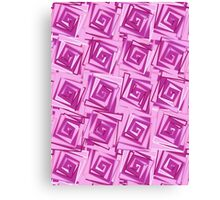 Mid-Century Modern Square Spirals, Orchid and Violet Canvas Print