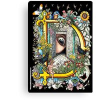 The Illustrated Alphabet Capital D (Fuller Bodied) Canvas Print