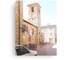 Central Square and Comune Building with Bell Tower Paciano Metal Print