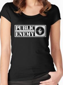 public enemy logo Women's Fitted Scoop T-Shirt