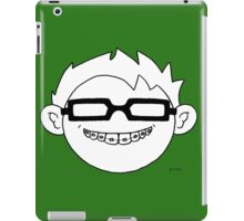 Superhero and nerd with braces and black glasses iPad Case/Skin