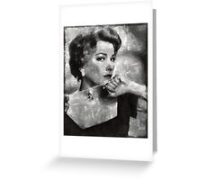 Anne Baxter Vintage Hollywood Actress Greeting Card