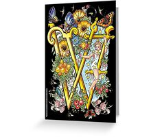 The Illustrated Alphabet Capital W (Fuller Bodied) Greeting Card