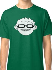Superhero and nerd with braces and black glasses Classic T-Shirt
