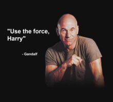 """Use the force, Harry"" - Gandalf by Rupert Pupkin"