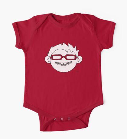 Superhero and nerd with braces and customizable glasses One Piece - Short Sleeve