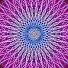 Mandala in light blue and pink colors by JBlaminsky