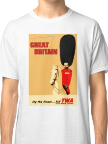 """""""TWA AIRLINES"""" Fly to Great Britain Advertising Print Classic T-Shirt"""