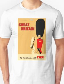 """TWA AIRLINES"" Fly to Great Britain Advertising Print Unisex T-Shirt"