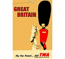 """TWA AIRLINES"" Fly to Great Britain Advertising Print Photographic Print"