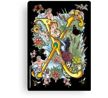 The Illustrated Alphabet Capital X (Fuller Bodied) Canvas Print