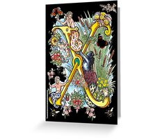 The Illustrated Alphabet Capital X (Fuller Bodied) Greeting Card