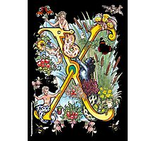 The Illustrated Alphabet Capital X (Fuller Bodied) Photographic Print