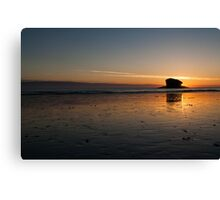 Gull Rock at Sunset Canvas Print