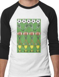 Sporty Knit Men's Baseball ¾ T-Shirt