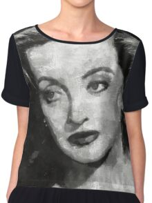 Bette Davis Vintage Hollywood Actress Chiffon Top