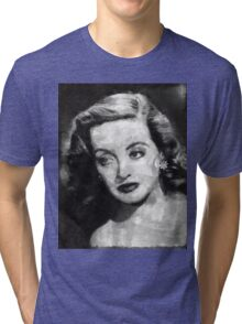 Bette Davis Vintage Hollywood Actress Tri-blend T-Shirt