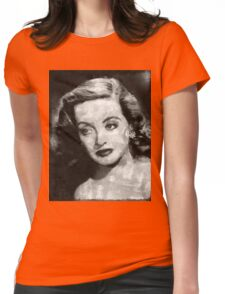 Bette Davis Vintage Hollywood Actress Womens Fitted T-Shirt