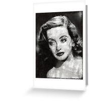Bette Davis Vintage Hollywood Actress Greeting Card