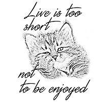 Live is too short... Photographic Print