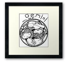 Zodiac Signs: Gemini Framed Print