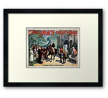 Performing Arts Posters The singing comedian Andrew Mack in the The last of the Rohans by Ramsay Morris 1110 Framed Print
