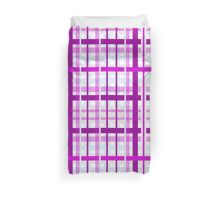 gingham duvet purple Duvet Cover