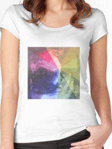 Rainbow Pug :) Women's Fitted Scoop T-Shirt