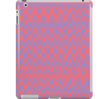 Pink and purple wavey lines pattern iPad Case/Skin