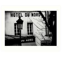 Paris - Hôtel du Nord. Art Print