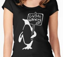 Global Warning on Black Women's Fitted Scoop T-Shirt