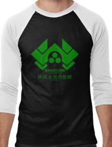 NAKATOMI PLAZA - DIE HARD BRUCE WILLIS (GREEN) Men's Baseball ¾ T-Shirt