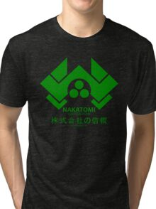NAKATOMI PLAZA - DIE HARD BRUCE WILLIS (GREEN) Tri-blend T-Shirt