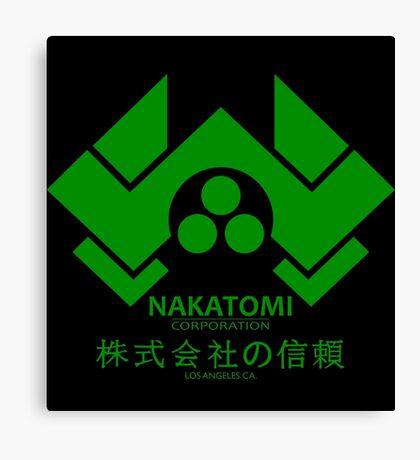 NAKATOMI PLAZA - DIE HARD BRUCE WILLIS (GREEN) Canvas Print