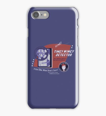 Timey Wimey Machine - Doctor Approved! iPhone Case/Skin
