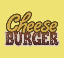 Cheeseburger Text Design Kids Tee