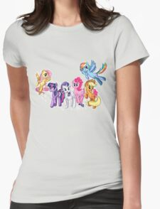 Mane Six Series ~ The Elements of Harmony Womens Fitted T-Shirt