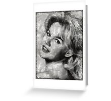 Carroll Baker Vintage Hollywood Actress Greeting Card